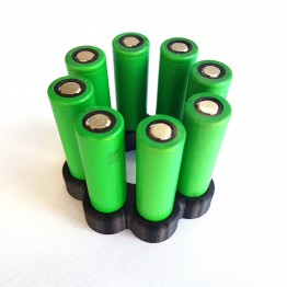 Battery Stand For Eight 18650 batteries