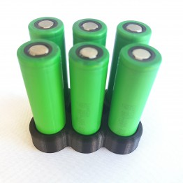 Battery Stand For Six 18650 batteries