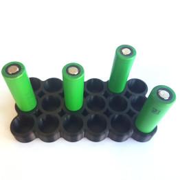 Battery Stand For Eighteen 18650 batteries