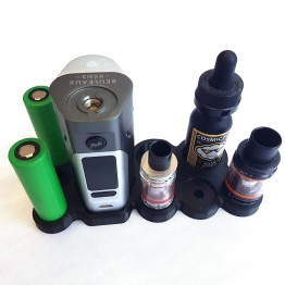 Wismec RX200/DNA200/RX2/3 Vape Stand 22mm Attys 28mm Bottles