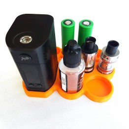Wismec RX300 vape stand 22mm atty's and 32mm juice bottle & Battery holder