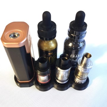 Wismec Predator 228 vape stand with 24.5mm atomizer and juice holder
